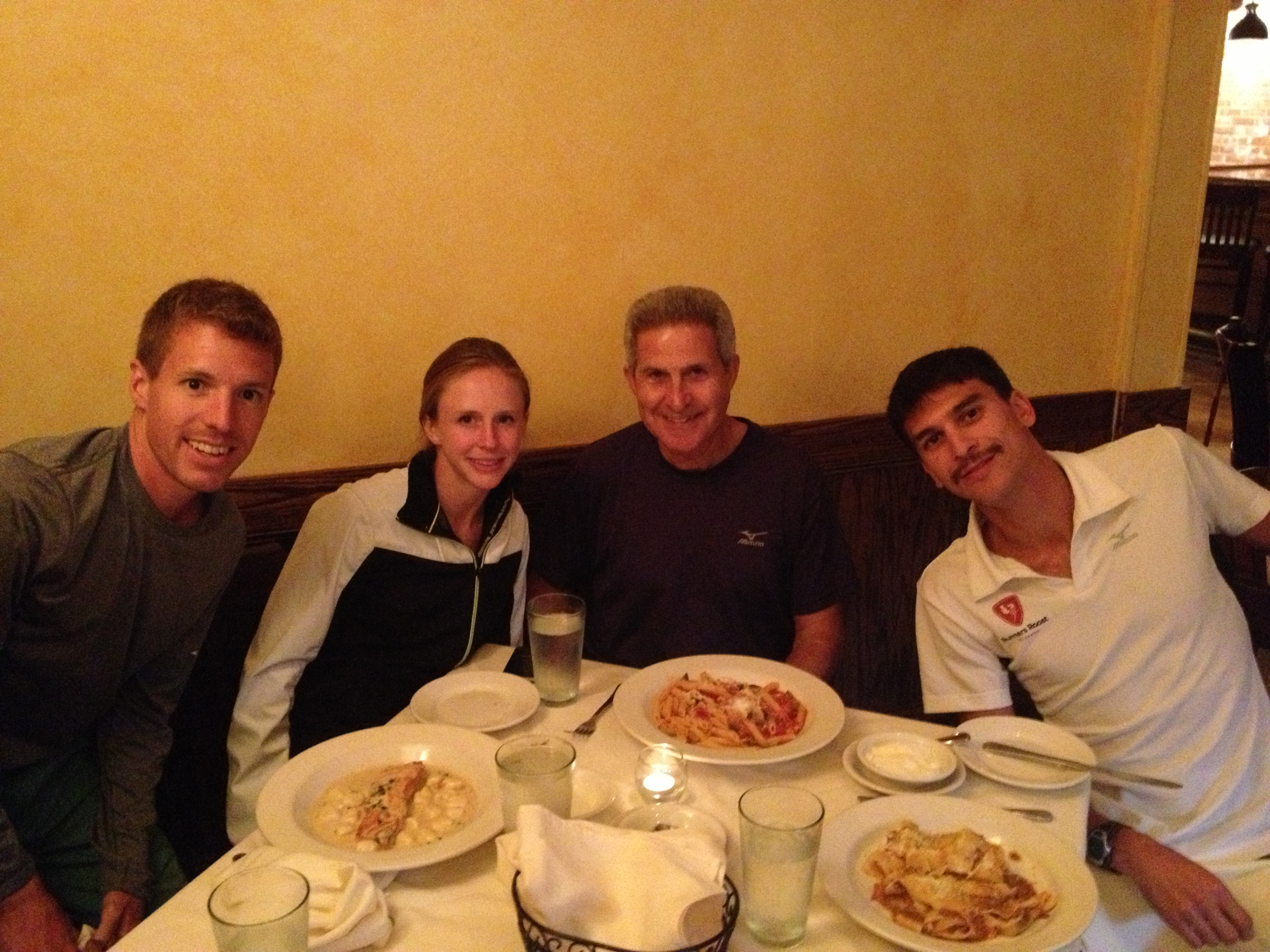 The Mizuno crew at our pre-race dinner.
