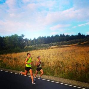 Team Run Eugene teammate, Dan Kremske, and I at last weekend's Wine Country Half Marathon.